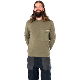 super.natural Alpine Crew Sweater Men, olive night melange/olive night